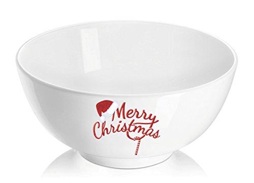 DOWAN 4Pack Porcelain Merry Christmas Bowls22oz Festival SoupCerealPasta Bowl Set