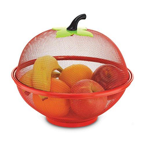 KOVOT Mesh Apple Fruit Basket Fruit Bowl 10 Red