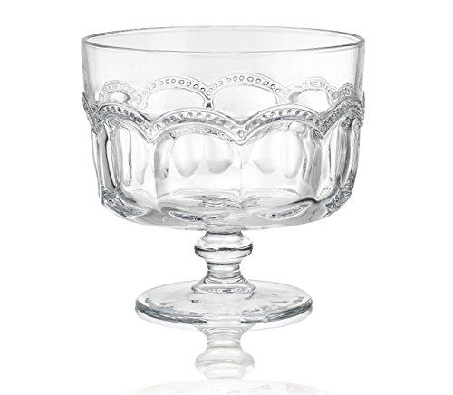 Artland 30004A Pearl Ridge Trifle Bowl 88 oz Glass