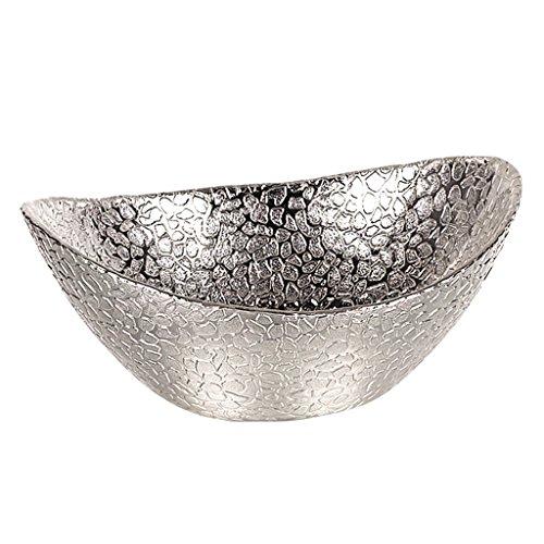 Badash Silver Snakeskin Oval 6-Inch Bowl