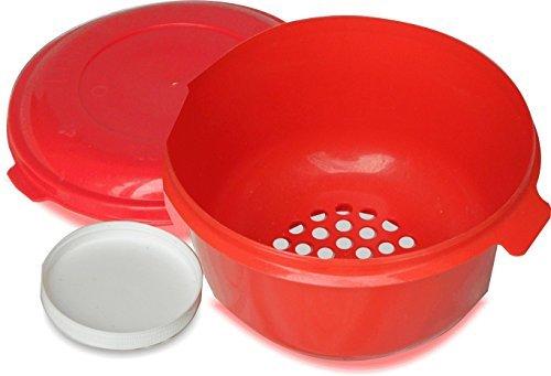 Colonels Kernel Catcher Popcorn Bowl - Dishwasher Safe Red
