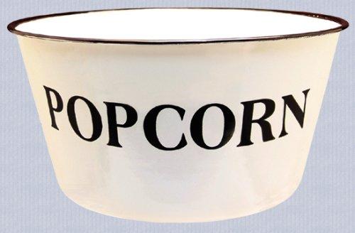 Popcorn Bowl - Enamelware Country Rustic