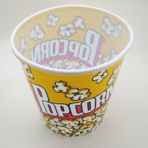 Retro Style Reusable Popcorn Bowl Medium Plastic Container Movie Theater Bucket