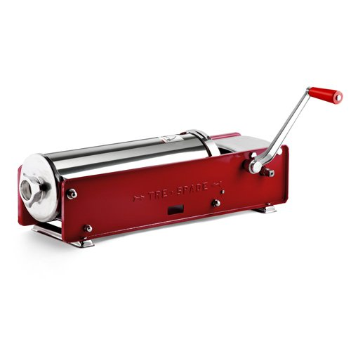 Fma Omcan Tre Spade Manual Horizontal Sausage Stuffer Stainless Steel 22 lbs Capacity 13721