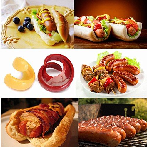 2Pcs Spiral Hot Dog Cutter Slicers Fancy Sausage Cutter Slicer Kitchen Gadget