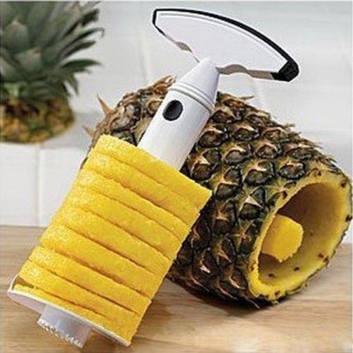 Mystyleshop-PL Fruit Pineapple Corer Slicer Peeler Cutter Parer Stainless Kitchen Easy Tool Kit