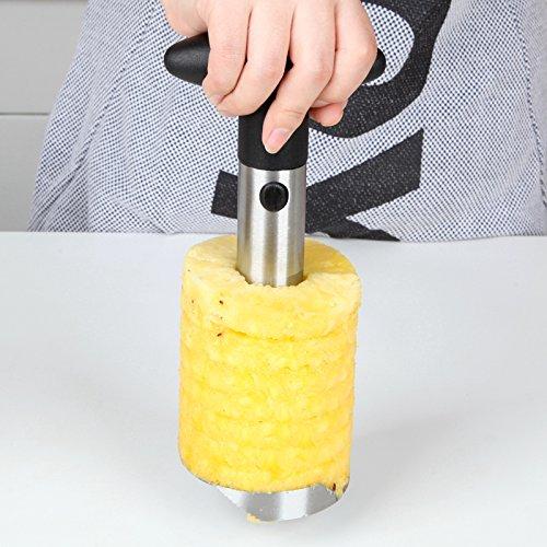 Pineapple Corer Slicer Peeler  Pineapple Corer Pineapple Slicer Easy Tool Stainless Steel Fruit Pineapple Corer Slicer Peeler Cut
