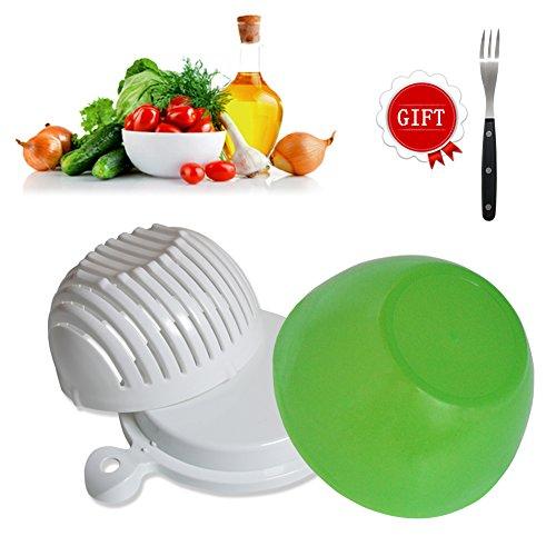 Salad Cutter Bowl 60 Seconds Salad Maker Easy Fruit Vegetable Cutter Bowl Fast Fresh Salad Slicer Salad Chopper by Yuxing