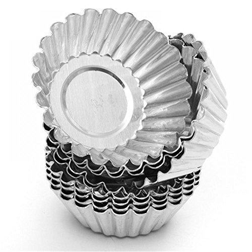 TXIN 20 Pack Egg Tart Aluminum Cupcake Cake Cookie Mold Pudding Mould Tin Baking ToolM