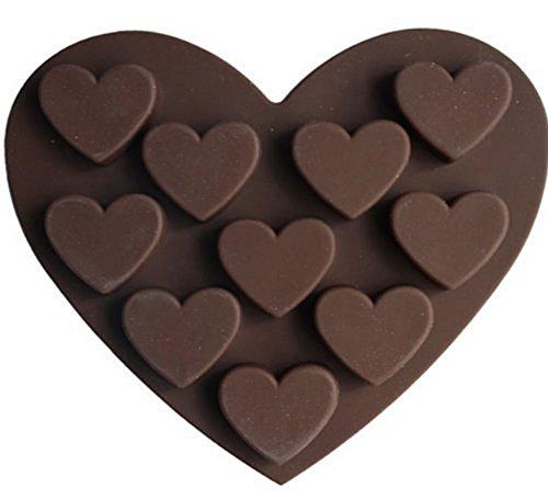 Dealglad Heart Shaped 3D Silicone Cake Fondant Chocolate Pudding Ice Cube Soap Decorating Baking Tray Mold