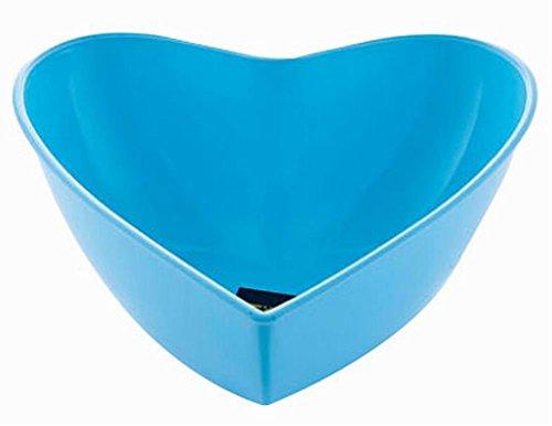 Heart Shaped Plastic Fruit Platter Dried FruitCandySnack Fruit Trays Blue