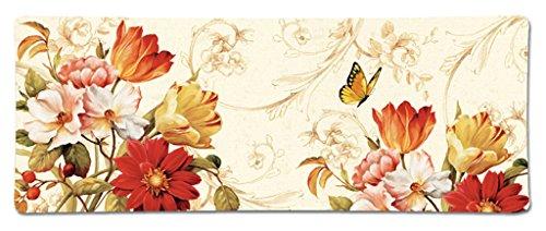 Melamine Dinnerware Serving Trays Antipasto Platter Fruit Cheese Plastic Plates 155 x 55 Orange Floral