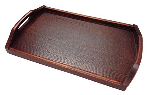 JapanBargain - Wooden Tea Serving Tray Bento Tray 17x10 inch