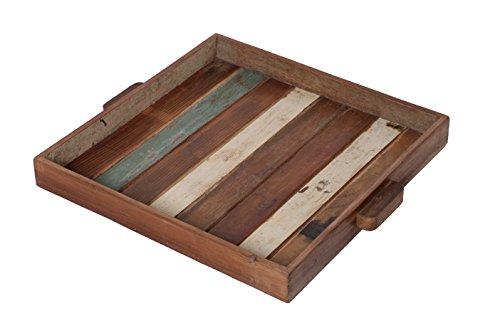 Reclaimed Wood Tray - Decorative Tray - 100 Reclaimed Wood - Reclaimed Wood Serving Tray - Decorative Trays - Large Wooden Tray - Serving Tray with Handles - Kitchen Tray - Cheap Trays - Bar Tray
