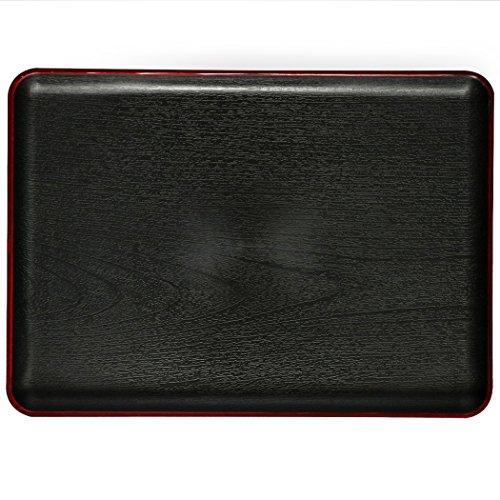 EPFamily Rectangular Black Plastic Serving Tray 15 x11 x 08 inch