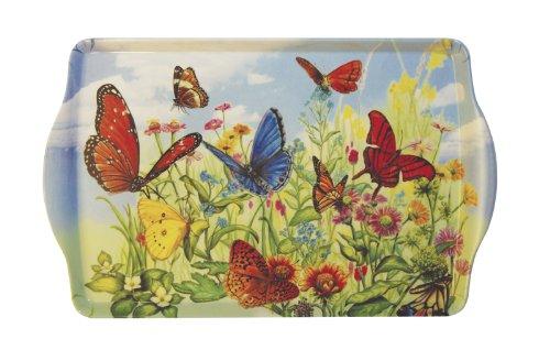 Butterfly Garden Handled Melamine Serving Tray