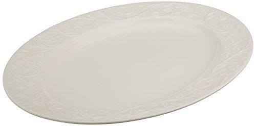 Lenox Opal Innocence Carved Large Oval Platter