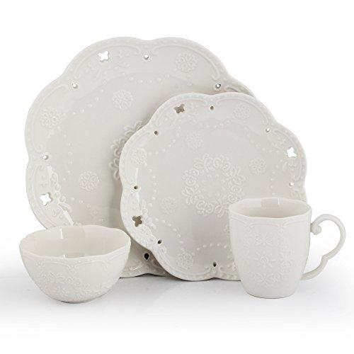KENDAL Porcelain Dinnerware Set of 4 DW-HD4