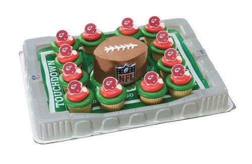 Kansas City Chiefs Cupcake Platter
