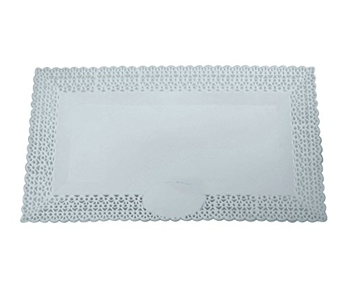 Strada Rectangular Plastic Cake Serving Platter Set of 3 115x65 Inches