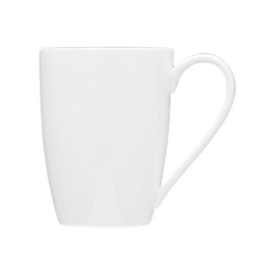 Fortessa Fortaluxe Superwhite Vitrified China Dinnerware Ojo 12-34-Ounce Tapered Mug Set of 6