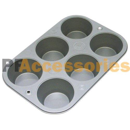 6 Cup Non Stick Steel Muffin Pan Bakeware Cupcake Baking Pan Cookie Tray