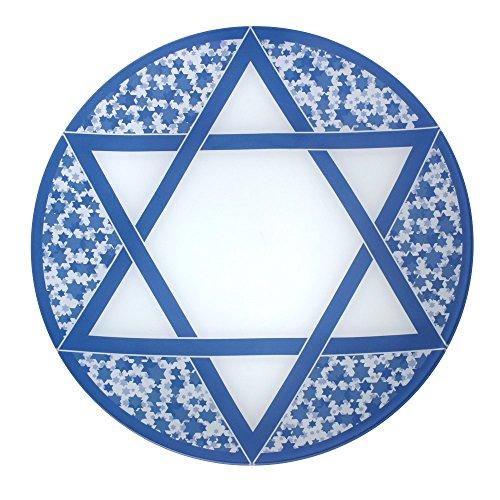 Pfaltzgraff Hanukkah Round Glass Platter 13-34-Inch