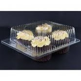 Clear Jumbo Cupcake Muffin Container Boxes Holds 4 jumbo Cupcake muffins each - 11 boxes