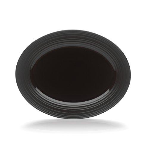 Mikasa Swirl Black Oval Serving Platter 14-Inch