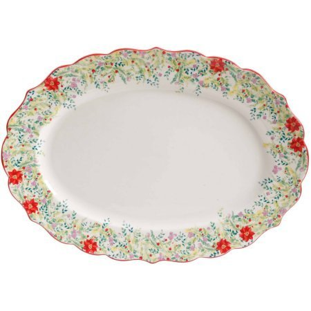 The Pioneer Woman Holiday Cheer 21 Oval Serving Platter
