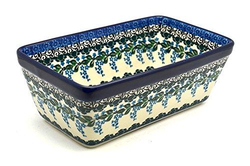 Polish Pottery Baker - Loaf Dish - Wisteria