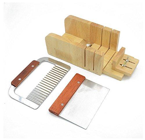Ehdching 1pcs Adjustable Wood Soap Loaf Mold  2pcs Wavy Straight Planer Cutting Tool Set