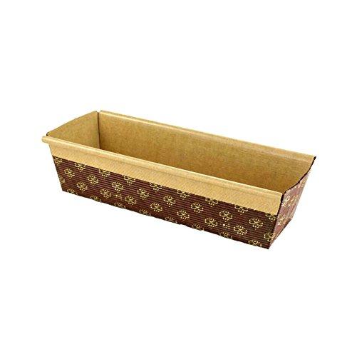 Rectangular Paper Loaf Pan Molds Large Size - 9x2 78x25 - 25pcs
