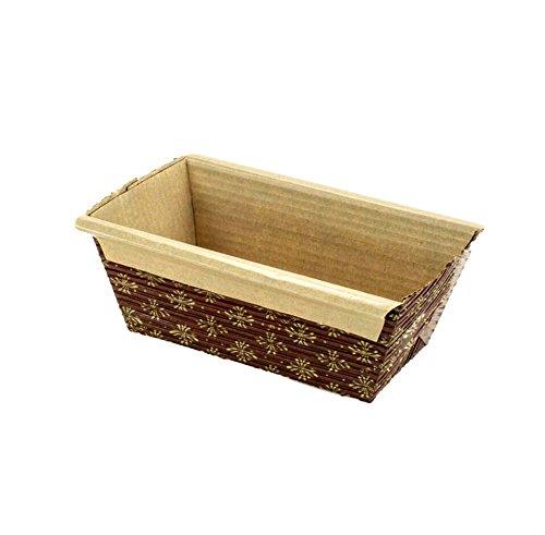 Rectangular Paper Loaf Pan Molds Mini Size - 4x2x2 - 25pcs