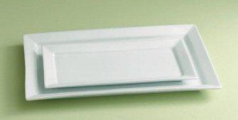 TAG White Whiteware Large Rectangular Platter