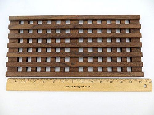 Trivet Hot Plate Walnut Wood Decorative Waffle Design Large Platters Casseroles Gift Idea