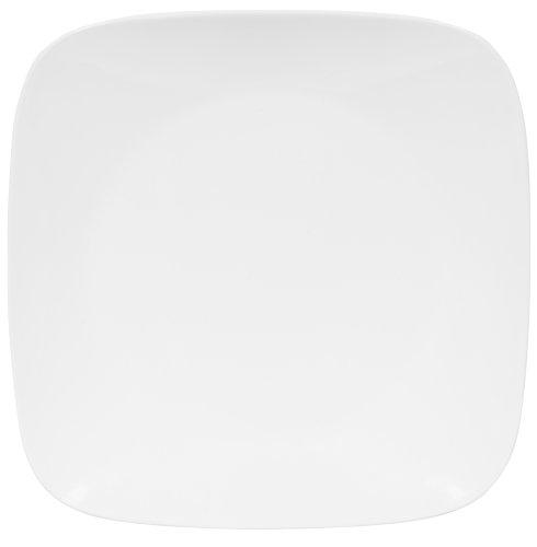 Corelle Square 10-14-Inch Dinner Plate Pure White