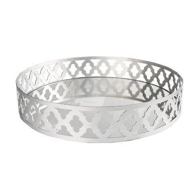 American Atelier 1331225 Round Mirror Silver Tray