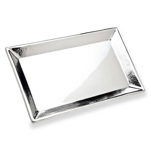 Godinger Silver Art Hammered 18 Rectangular Stainless Steel Serving Platter Tray