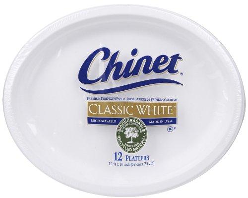 Chinet Classic White Platter 58x10- 12 ct