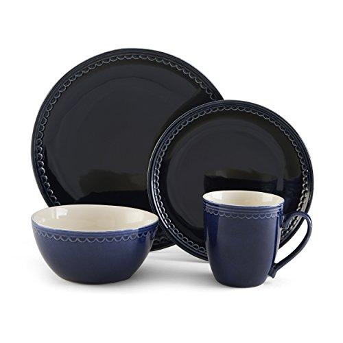Pfaltzgraff Blue Loop 16-Piece Dinnerware Set Service for 4