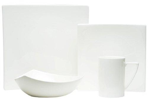 Red Vanilla Extreme White 16-Piece Dinnerware Set