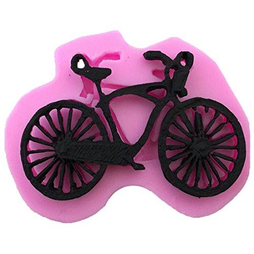 Joyi Fondant Cake Lace Mold Morden Bike Silicone Molds Cake DecoratingPink