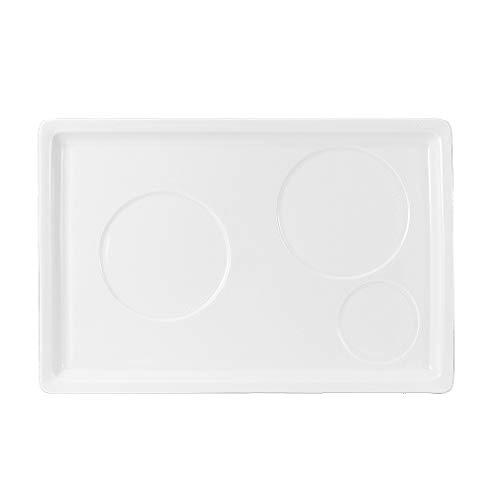 Hankook Chinaware 한국도자기 Korean Fine Bone China Whitebloom Slow Morning Tray Dinnerware Dojagi
