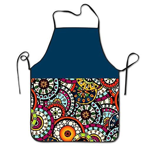 Flower Pattern Style Novelty Baking Salon Apron 100 Polyester For Men Women
