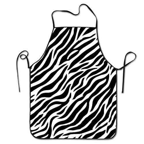 Zebra Seamless Novelty Baking Salon Apron 100 Polyester For Men Women