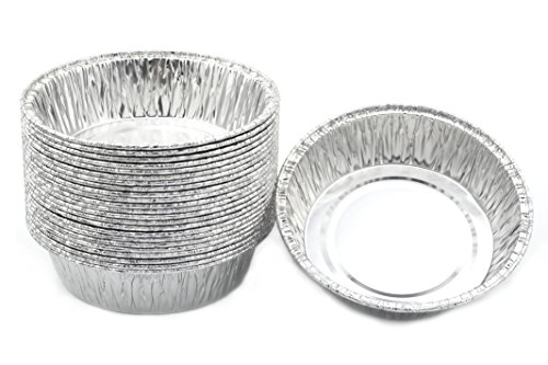Disposable Foil 4-14 Mini Pot Pie Food Mini PieTart Pans 1 Pack of 25 Pcs