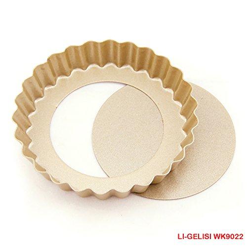 Novelty Cake Pans Nonstick Large Non-Stick Carbon Steel Mini Tart Pans 4-Inch Diameter