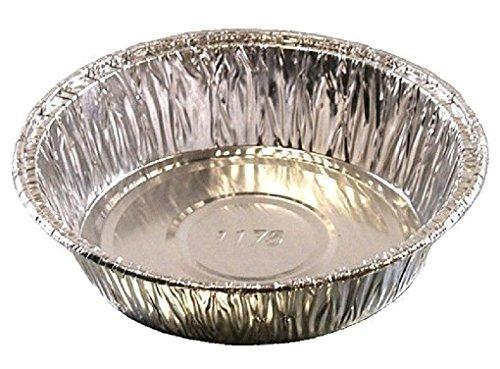 4 Medium Aluminum Foil Mini-Pot PieTart Pan - Disposable Food Cake Baking Tins