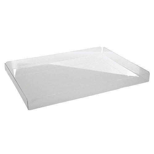 HUBERT Clear Acrylic Tray - 24L x 18W x 2H